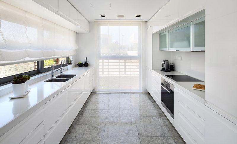 厨房:白色光泽漆