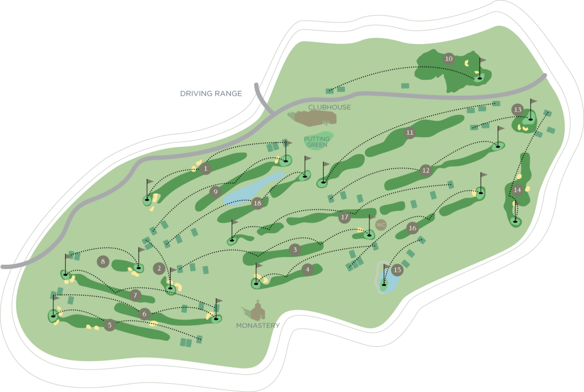 Minthis Hills - Course Map